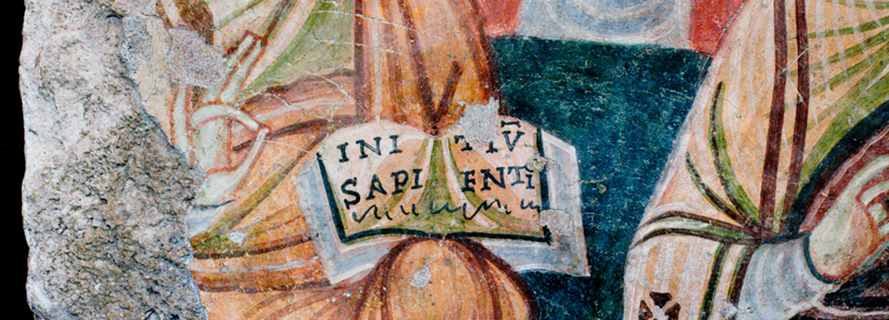 Fresco from the foot of the Oppian Hill, Rome, 8th/9th c. Vatican Museums, 31448 (ex 119) (c) © Genevra Kornbluth [http://www.kornbluthphoto.com/OppianHillFresco.html]