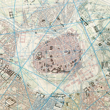 Plan von Wien, 1858 © Wikimedia/PD/J&C Walker Sailp, John Murray