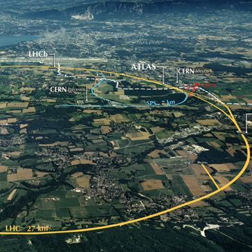 © Wikimedia/CC BY-SA 3.0 /Maximilien Brice (CERN), https://upload.wikimedia.org/wikipedia/commons/9/99/CERN_Aerial_View.jpg