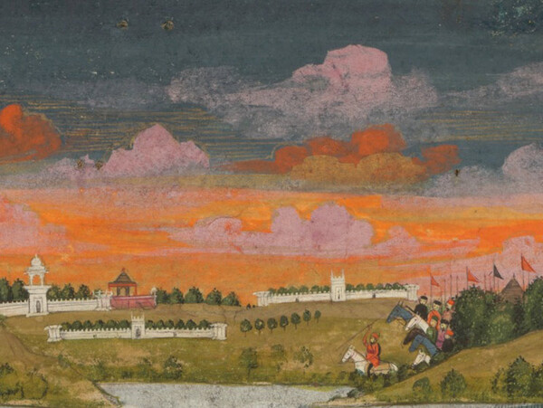 Fayzullah, A blindfolded suitor is brought before a princess, 1755. Cleveland Museum of Art ©  Wikimedia/CC0