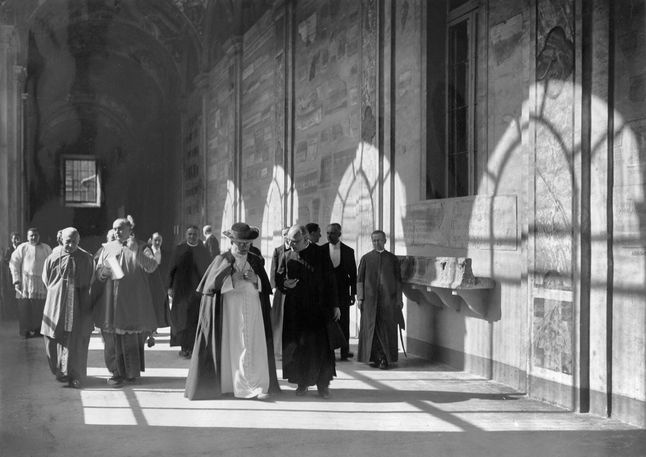 Father Wilhelm Schmidt with Pope Pius XI at the opening of the missionary ethnological museum in the Lateran, Rome, 20 December 1929; Photo Felici, Rome; SVD, Mission House St. Gabriel