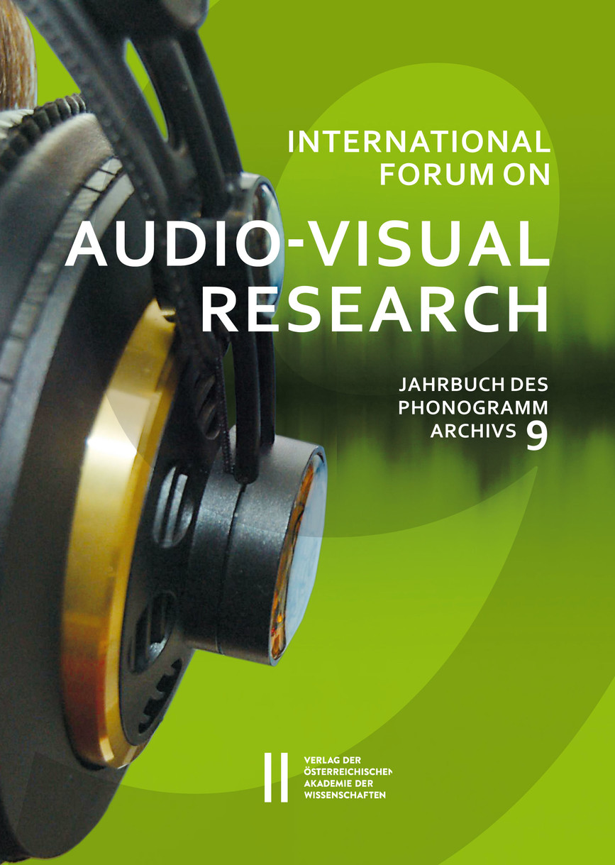 INTERNATIONAL FORUM ON AUDIO-VISUAL RESEARCH (JAHRBUCH DES