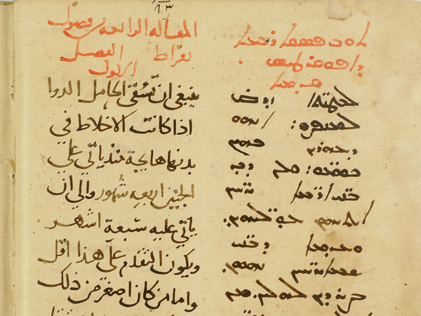 "© Bibliothèque nationale de France, arabe 6734, f. 50v Syriac and Arabic versions of Hippocrates' ""Aphorisms"""