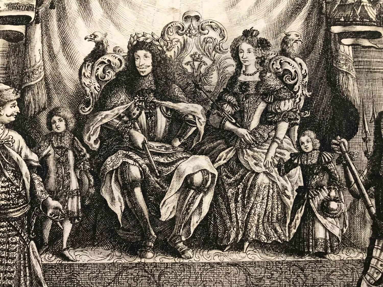 Die Kaiserfamilie: Ausschnitt eines Flugblatts zum Sieg von 1683 © Wien Museum, Malerei und Grafik, Inventar-Nr. 163.635