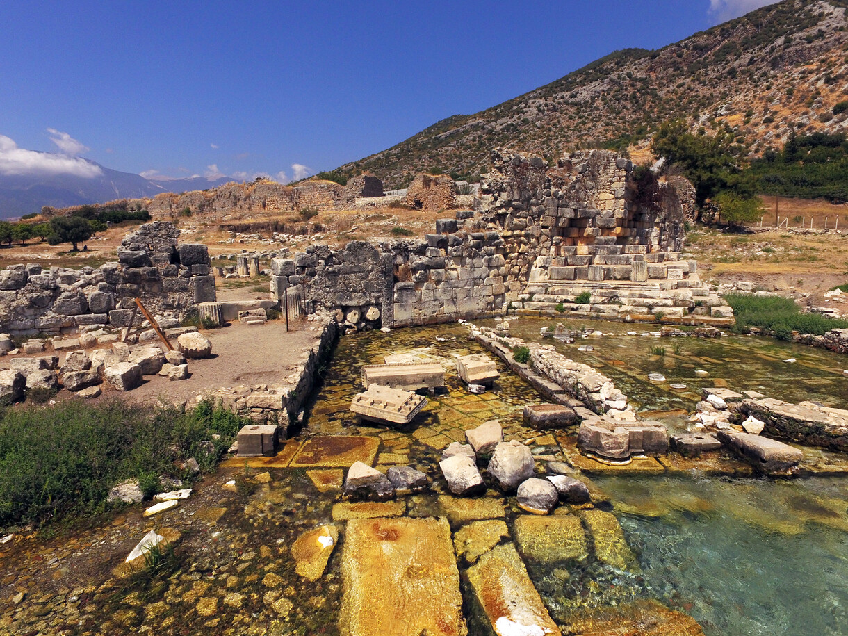 Limyra, the in situ remains of the honorary arch for Ornimythos (photo: OeAW-OeAI/C. Kurtze)