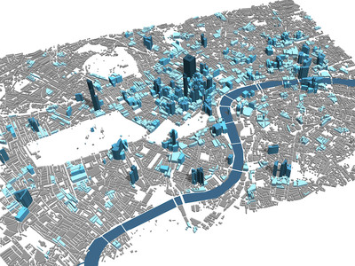 Re-imagining London's Urban Landscape in Real Time © urschrei/spatialcomplexity.info/archives/2540