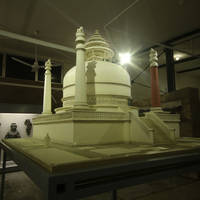 The main stupa of Saidu Sharif I:  reconstruction (Swat Museum 2013)
